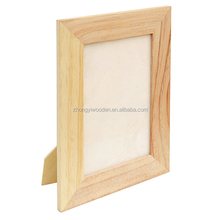 factory FSC&BSCI natural pine wooden desk display Wedding Photo Frame, rustic Wooden Wedding Couple Pictures Frames