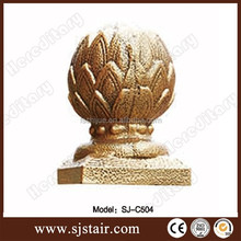 Golden china customized cast aluminum ball post cap for fence post