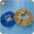Injection plastic ring brush convoluted type poly disc broom for sweeper