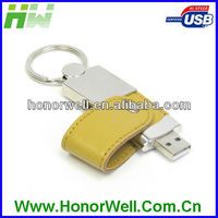 2013 OEM 2.0 promotion Leather usb driver bracelet memory with key chain and free logo