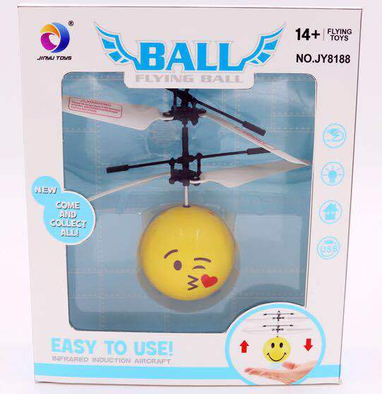 NEW product inductive flying ball Interesting Flying Ball Toy Emoji Face flying Ball for Kids