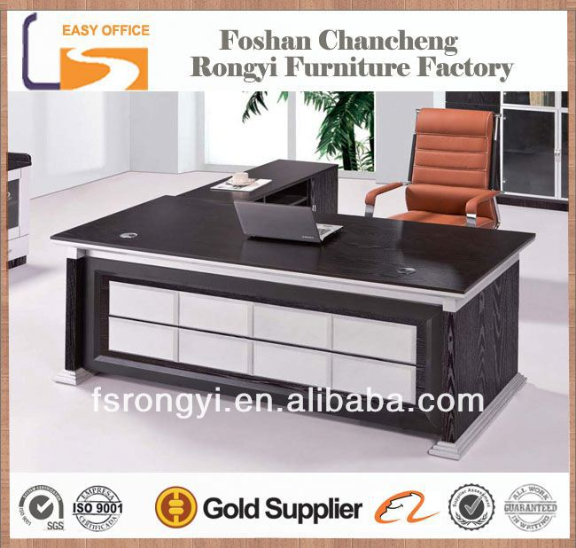 Wholesale latest design wood balck elegant modern executive office tables