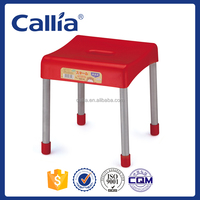 2016 colorful plastic bar stool steel stool small plastic stool