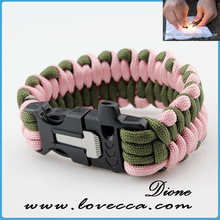 2017 fashion paracord jewelry Survival Bracelet handmade