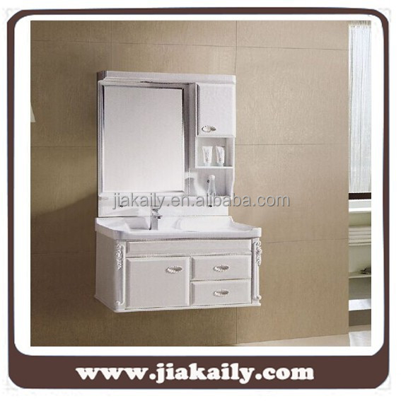 JKL-6017Modern furniture wall hung pvc bathroom cabinet vanity