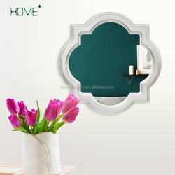 Flower shaped cheap plastic decorative wall hanged mounted mirror