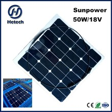 regular length or to be optional cable 50w 12w car roof solar panel installation