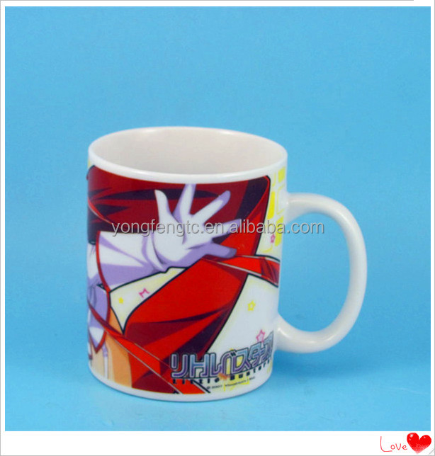 YF18105 promotional ceramic cartoon mug for kids