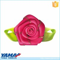 New arrival hand craft work ribbon decoration flowers for clothes