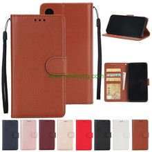 Flip Wallet PU Leather Card Slots Photo Frame Soft TPU Case For iPhone X