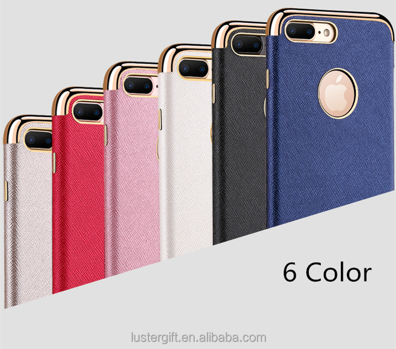Best Quality Luxury Chroming TPU Leather Skin Cell Phone Case for iPhone 7 / 7 plus Cover