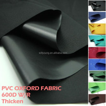 OXFORD FABRIC 600D thicken pvc coated one side waterproof fabric black yellow blue green red brown oxford for tent wr bags rain