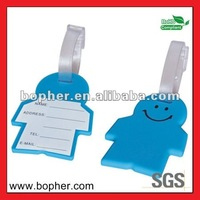 pvc travel luggage belt with name tag
