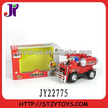 Electric plastic model toy fire truck toys