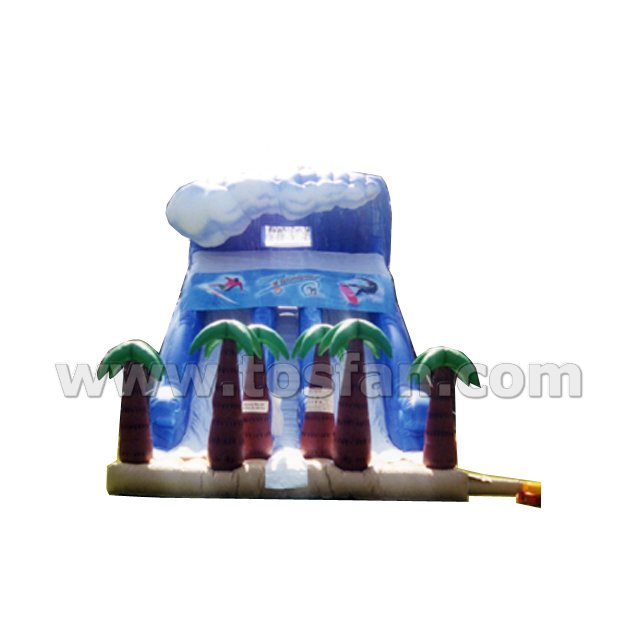 Commercial grade giant hippo inflatable slide inflatable water slide A4033
