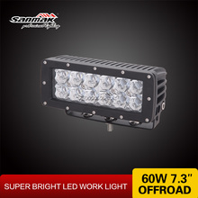 "Sanmak 7"" Led Driving Light Superior Quality High Brightness CE RoHS IP67 SGS TUV 60W Auto 4*4 Led Off Road Light Bar"