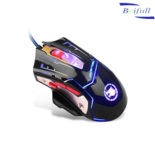 Programming USB wired 7d gaming mouse with flashing led light made in China