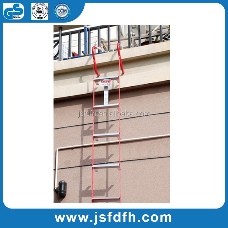 Two Story Rescue Ladder 14 Foot Long Fire Escape Ladder For Emergency Rescue