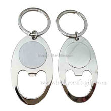 Promotion casting zinc alloy metal blank key chain customized for sale