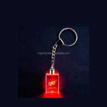Cheap crystal led keychain key holder as wedding door gifts
