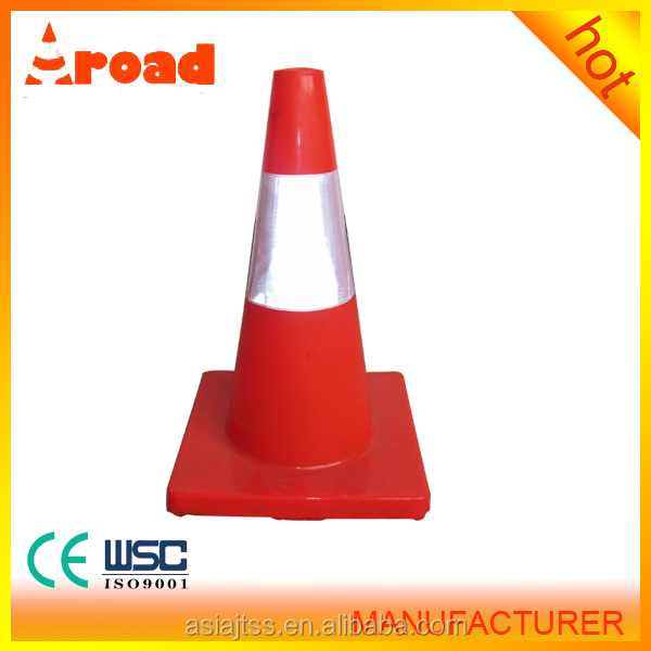 Reflective Rubber Traffic Cone with Highly Reflective Sleeve for Safety