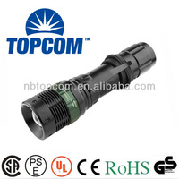 2014 new cree led zoom flashlight mechanically powered flashlight