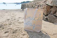 Reusable Summer Canvas Beach Tote Bag Made in China