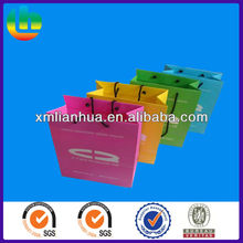 Newly Fashion Customized same size different colors Paper Shopping Bags with Handle