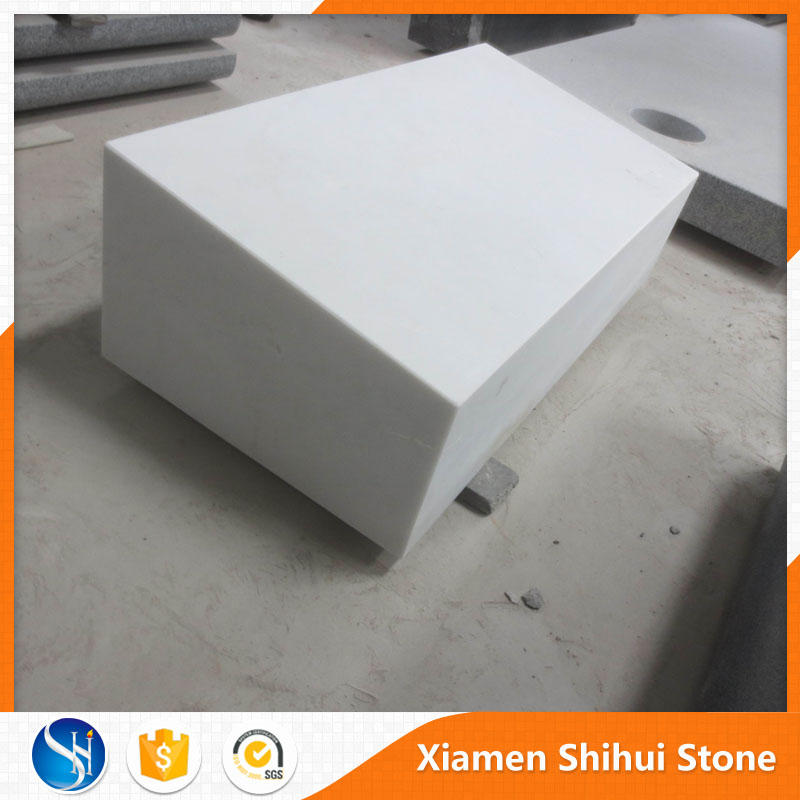 Black white wholesale funeral marble stone for grave marker
