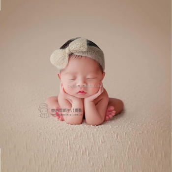 wholesale crochet mohair baby headband newborn photography props