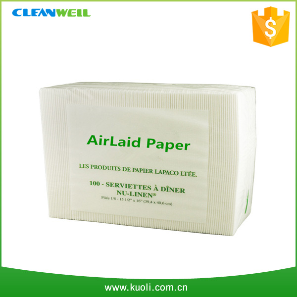 Airlaid folded printed paper napkin for restaurant and hotel