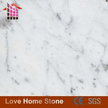 Polished floor tiles Italy white carrara marble prices in Foshan