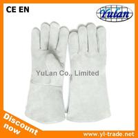 Cheap cow split welding leather gloves