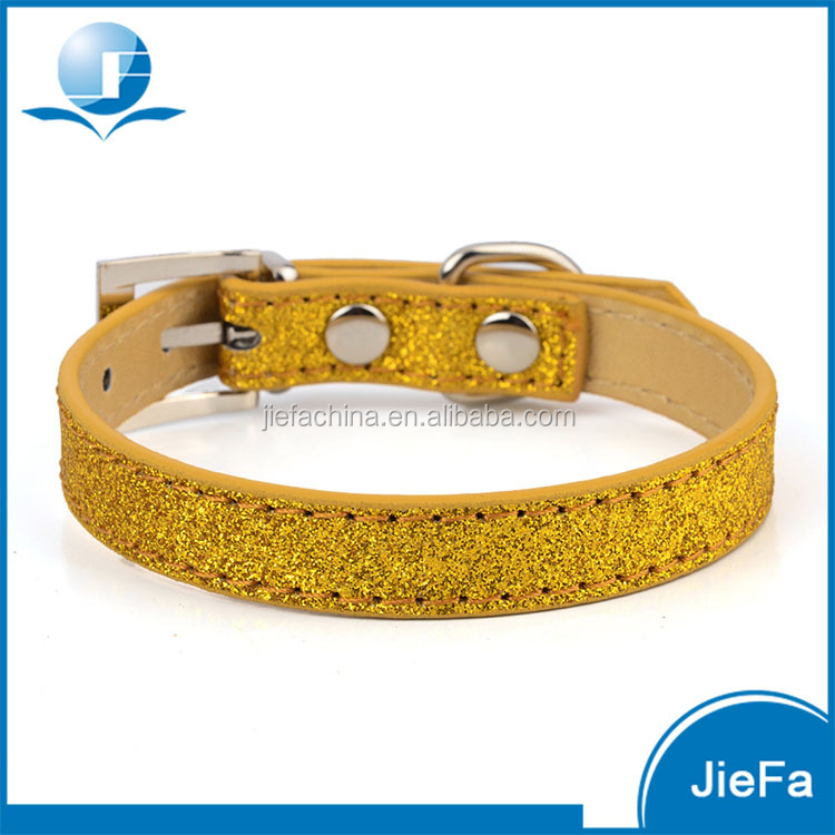 Hot Sale Shining Surface PU Leather Pet Safe Collar