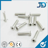 m3 small size cross recessed flat countersunk head screw
