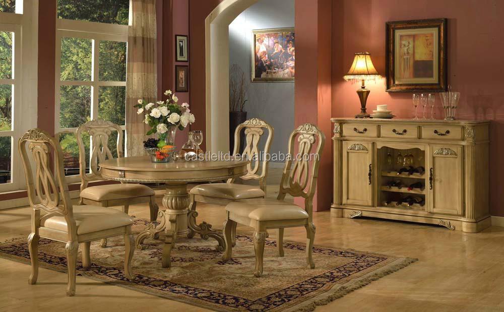 Blanc antique bois salle manger ensemble accueil for Meubles 1900