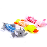 animal shaped squeaky plush pet toys for dogs
