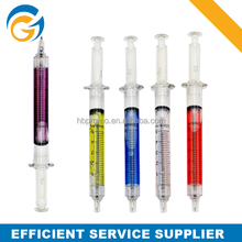 New Style Sringe Pen Syringe Shaped Click Ball Point Pen