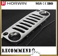 HORWIN ABS Chrome Front Grille For Jeep Wrangler JK 07-14 4x4 auto accessories