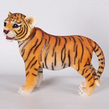 OEM resin tiger statue in standing position decoration use