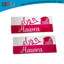 Custom made high quality woven label for scarf