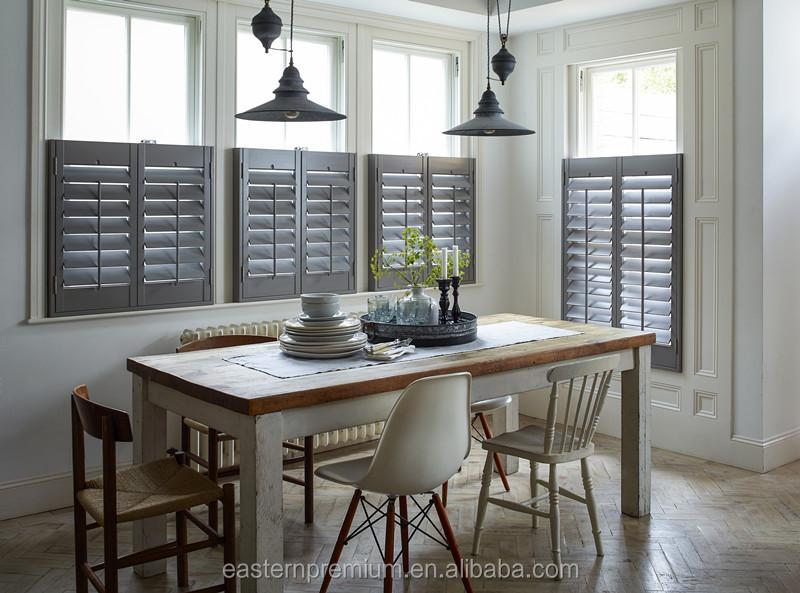 Oem interior aluminum metal window louver shutter sliding bi pass hinge fixed bi fold buy for Metal window shutters interior