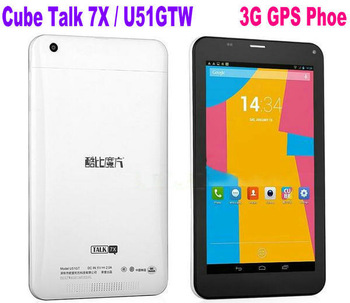 "Cube Talk 7x / Cube U51GT C4 7"" IPS MTK8382 Quad Core Android 4.2 1GB RAM 8GB ROM Bluetooth GPS dual sim card 3G Tablet PC"