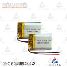 Factory Direct Li-ion 552028 3.7V 280mAh polymer rechargeable laptop battery prismatic cell with PCB