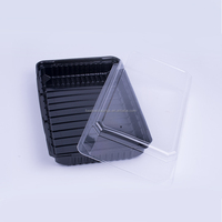 PS bottom PET lid highend takeaway disposable plastic food container