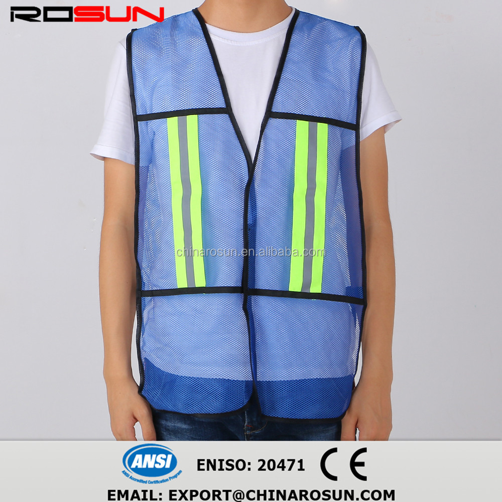 navy blue mesh safety reflective vest cheap manufacture wholesale