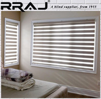 RRAJ Modern Home Decoration Blackout Zebra Blind Curtain