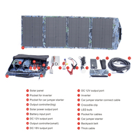 New arrival promotional 60watt waterproof pvc solar panel charger bag for phone/car/laptop