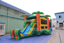 QiQi Inflatable Bouncer Combo with Slide Jungle Theme