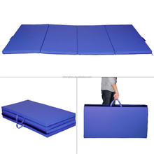 "4'x10'x2"" Gymnastics Gym Folding Exercise Aerobics Mats Stretching Yoga Mat"